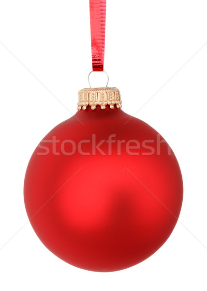 Christmas bal Rood viering decoratie ornament Stockfoto © mblach