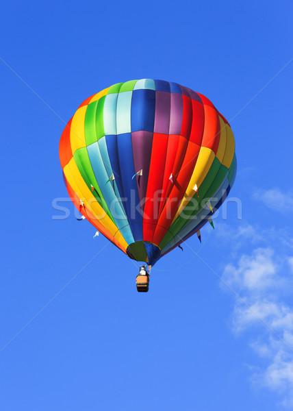 Balonem kolorowy Błękitne niebo lata zabawy kolor Zdjęcia stock © mblach
