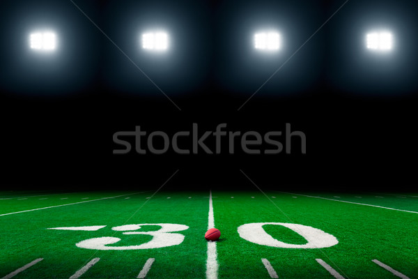 Campo di calcio americano erba sport sfondo campo Foto d'archivio © mblach