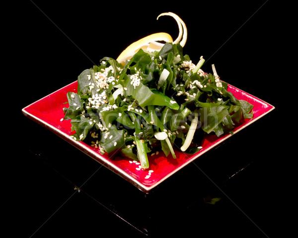 Hínár saláta étel egészség vacsora szín Stock fotó © mblach