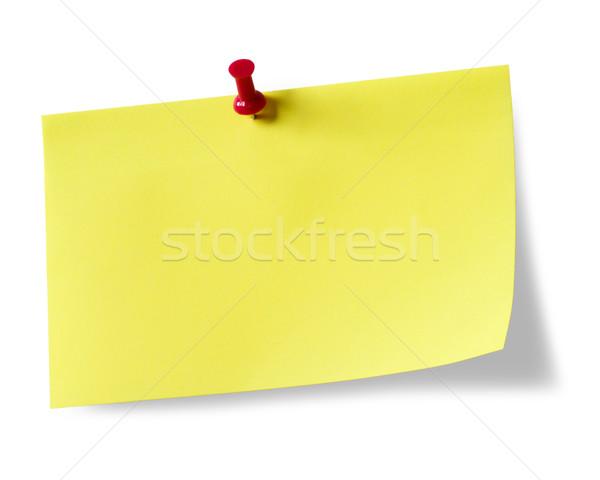 Giallo sfondo bianco clean bordo Foto d'archivio © mblach