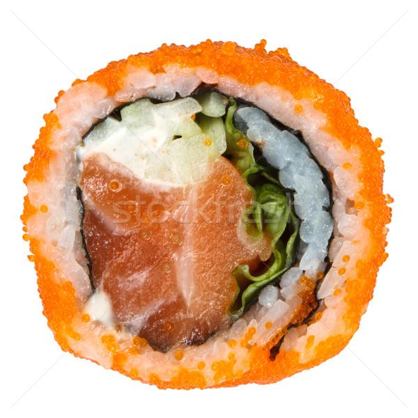 Sushi yalıtılmış beyaz gıda balık Asya Stok fotoğraf © mblach
