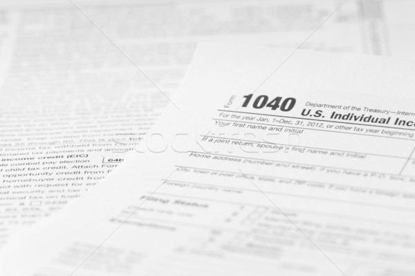 tax forms Stock photo © mblach