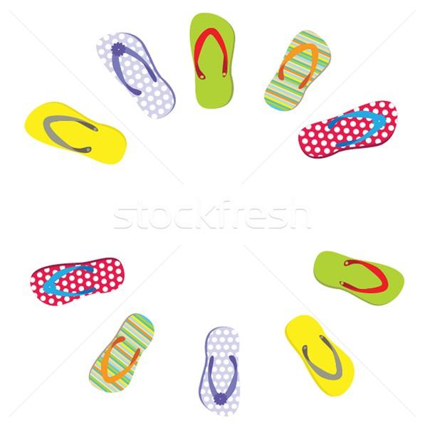 beautiful beach slippers isolated Stock photo © mcherevan