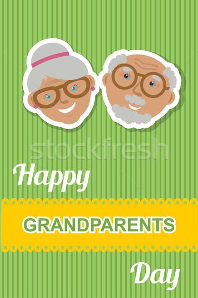 Szczęśliwy dziadkowie dzień karty babcia dziadek Zdjęcia stock © mcherevan