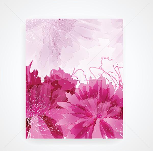 Stock photo: Peony flower