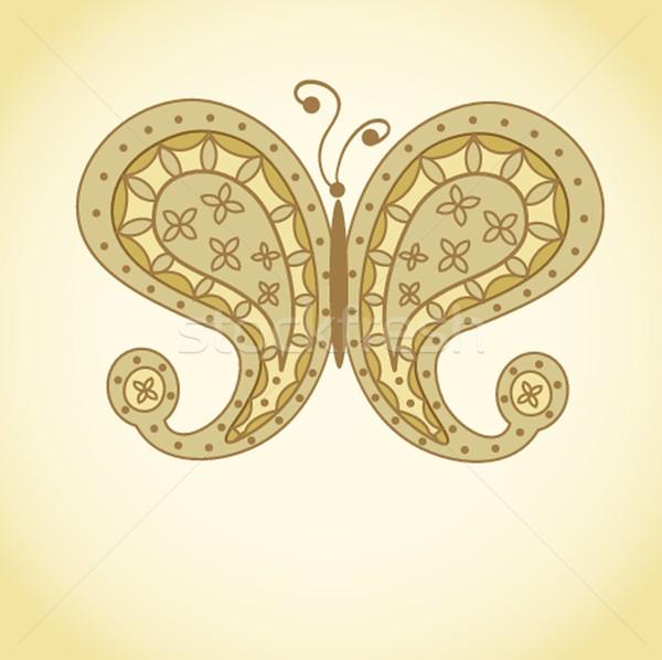 Paisley Butterfly Stock photo © mcherevan