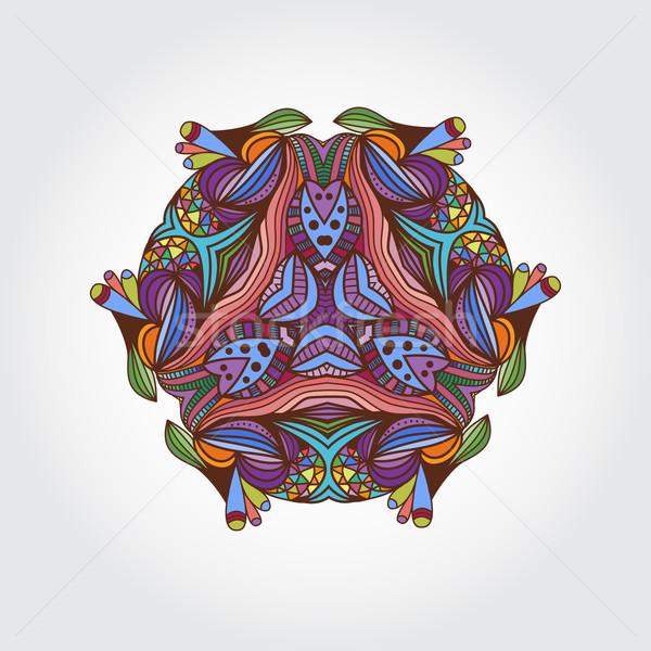 мандала рисованной элемент Vintage круга Сток-фото © mcherevan