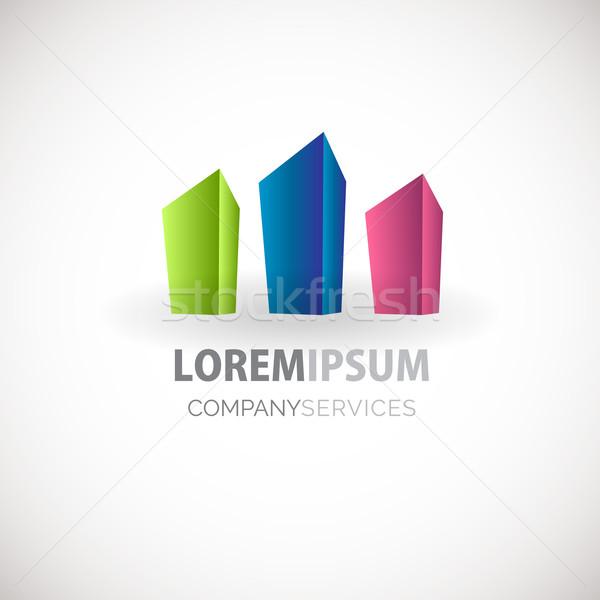 Abstract square logo icon Stock photo © mcherevan