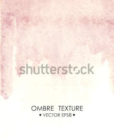 Ombre watercolor pink. Hand drawn ombre texture. Stock photo © mcherevan