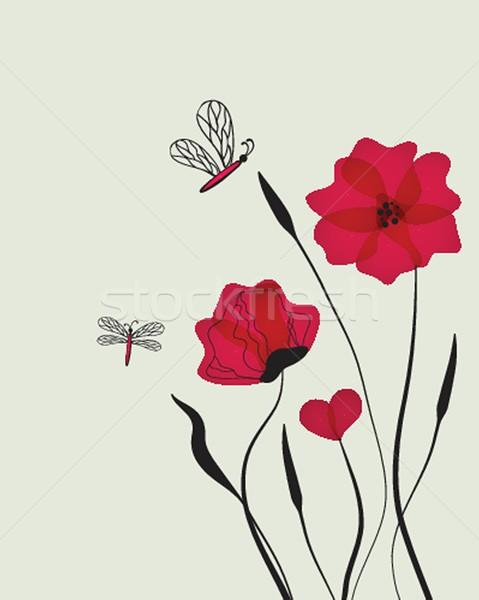Beautiful fairy butterfly Stock photo © mcherevan