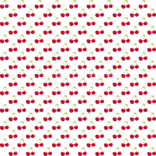 ストックフォト: 水彩画 · ベリー · 桜 · エンドレス