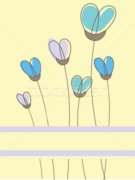 Vintage carta fiori biglietto d'auguri carta Foto d'archivio © mcherevan