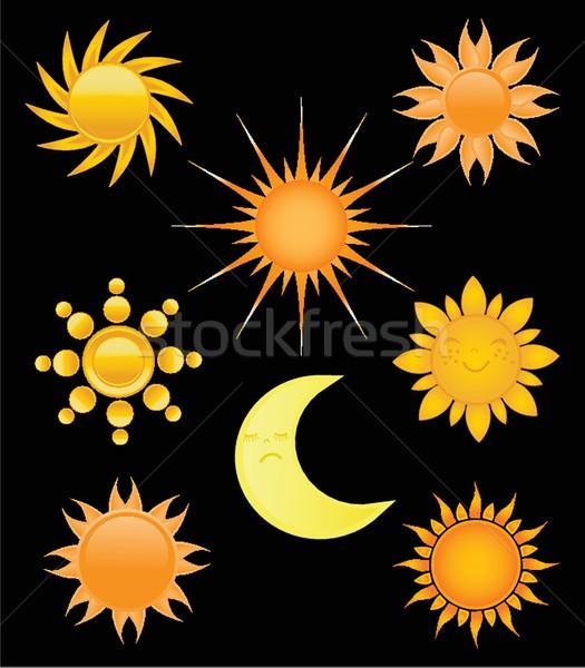 Suns collection. Vector illustration Stock photo © mcherevan