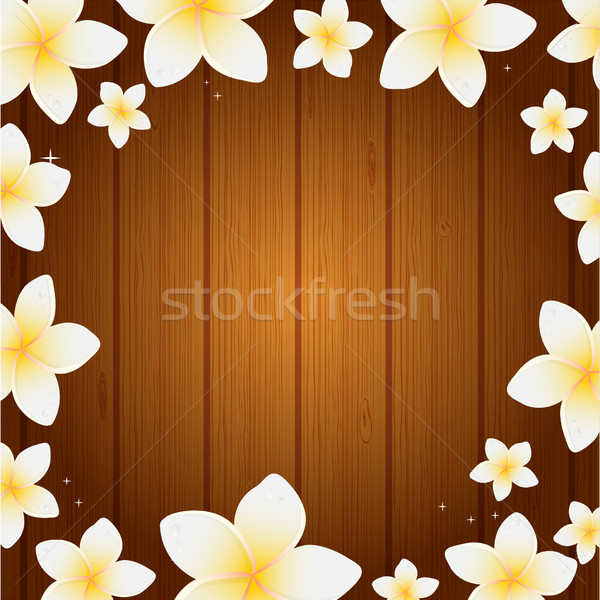 Spa background with frangipani flowers  Stock photo © mcherevan