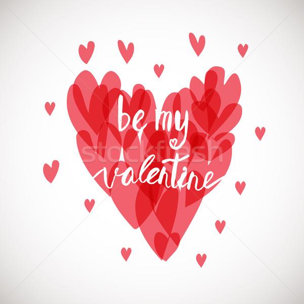 Be my valentine. Ink illustration. Stock photo © mcherevan