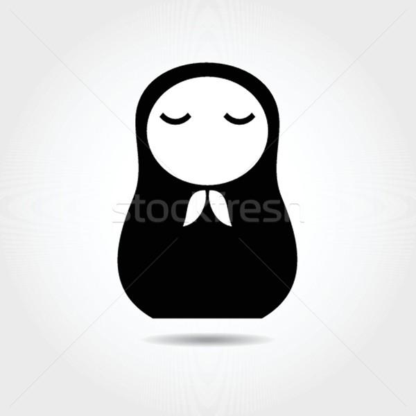 Concept russian matrioshka doll. Woman. Stock photo © mcherevan