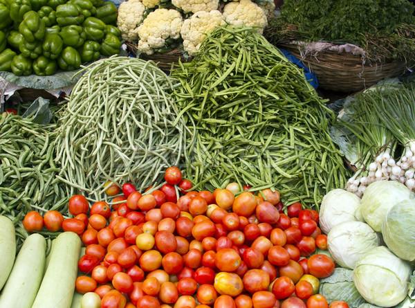 Fresche succosa verdura counter India goa Foto d'archivio © mcherevan
