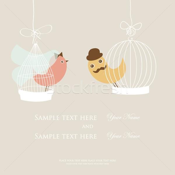 結婚式招待状 ブライダル シャワー カード 2 かわいい ストックフォト © mcherevan