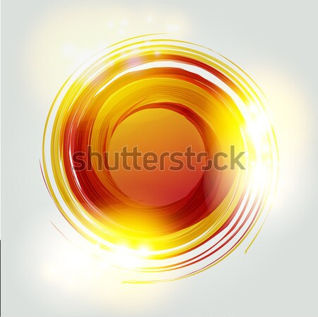 Vector abstract oranje cirkel logo-ontwerp sjabloon Stockfoto © mcherevan