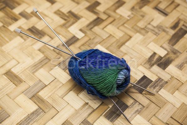 Azul verde hilados Foto stock © mcherevan