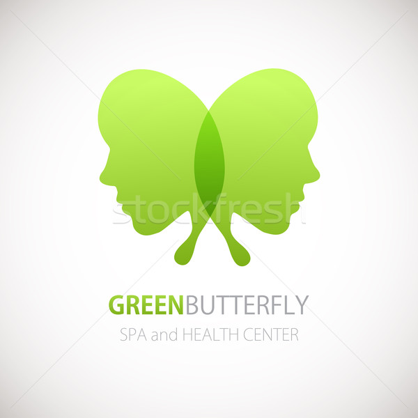Farfalla simbolo logo design salone di bellezza spa centro Foto d'archivio © mcherevan