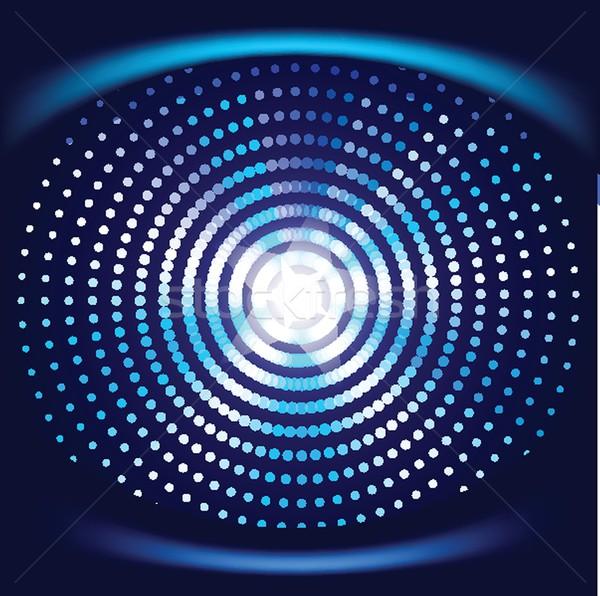ネオン ライト グラフィックデザイン 抽象的な デザイン 青 ストックフォト © mcherevan