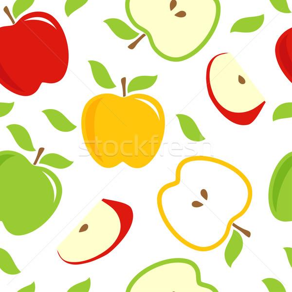 ストックフォト: リンゴ · 緑 · 黄色 · 白