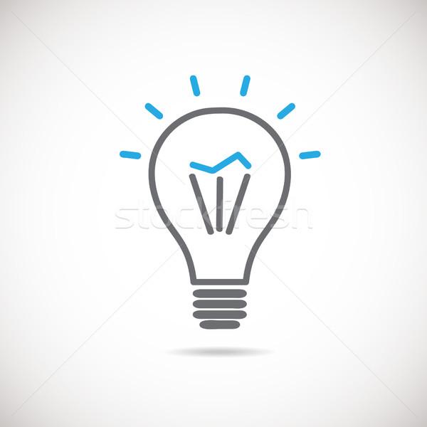 żarówka wektora ikona pomysł lampy podpisania Zdjęcia stock © mcherevan