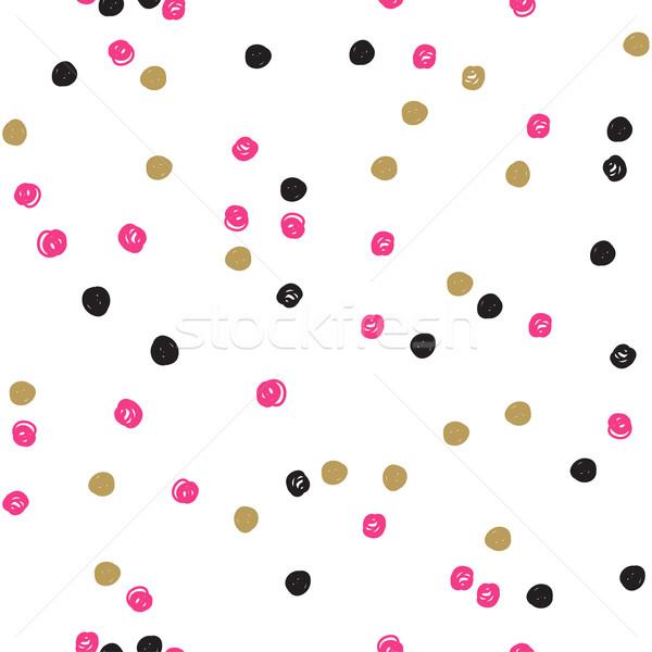 Sem costura nosso escove pintado padrão Foto stock © mcherevan