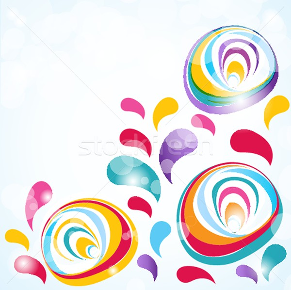 Floral vector background Stock photo © mcherevan