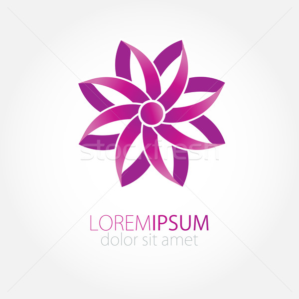 Abstract flower from violet paper ribbons.  Stock photo © mcherevan