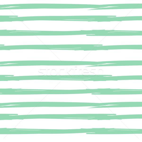 Сток-фото: рисованной · чернила · бесшовный · полосатый · белый