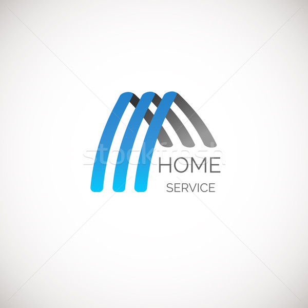 Vector house logo for your company. Good for home service, cleaning, insurance and other business Stock photo © mcherevan