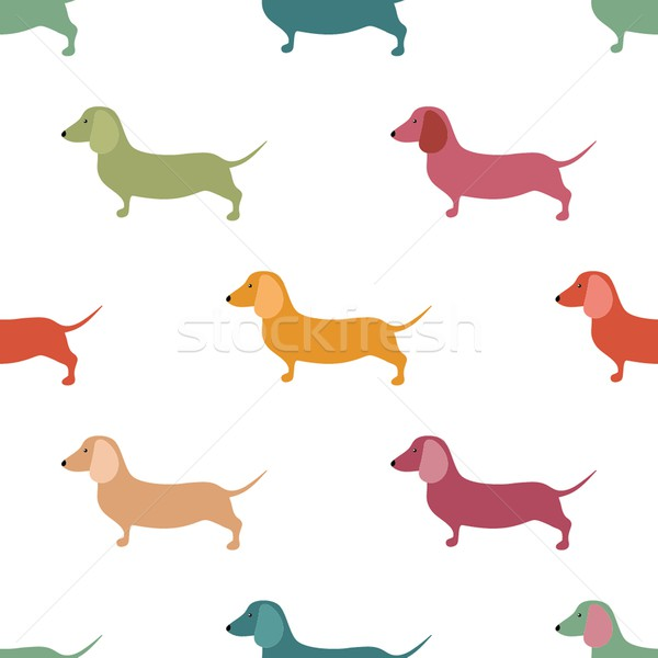 Cute little dogs scotch terriers silhouette seamless. Stock photo © mcherevan