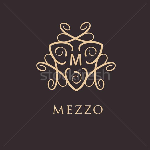 Vintage stijl ontwerp monogram retro luxe Stockfoto © mcherevan