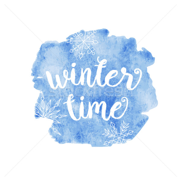 Winter time typographic poster.hrase.  Stock photo © mcherevan