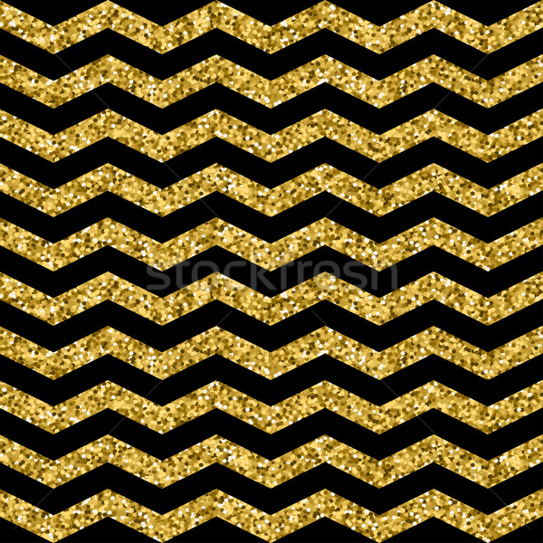 Oro zig-zag nero modello onda Foto d'archivio © mcherevan