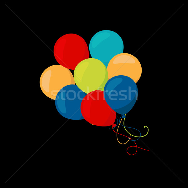 Holiday banners with colorful balloons. Vector. Stock photo © mcherevan