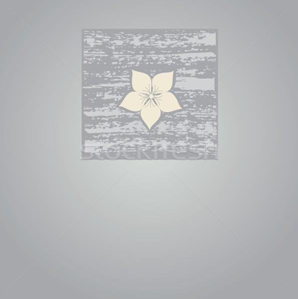 Jahrgang Karte Hand gezeichnet Blumen Grußkarte Papier Stock foto © mcherevan