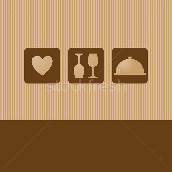 Foto stock: Restaurante · menú · diseno · sin · costura · resumen