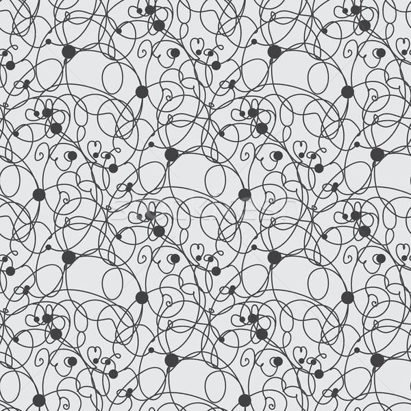 Abstract vettore senza soluzione di continuità bianco nero zig-zag pattern Foto d'archivio © mcherevan
