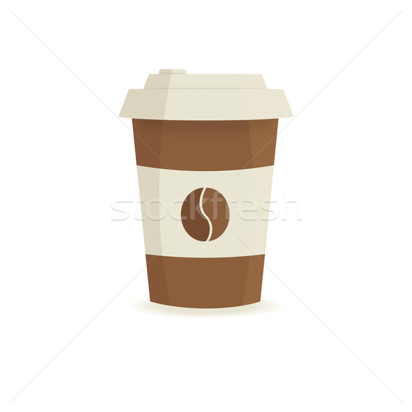 Paper coffee cup on a white background.  Stock photo © mcherevan