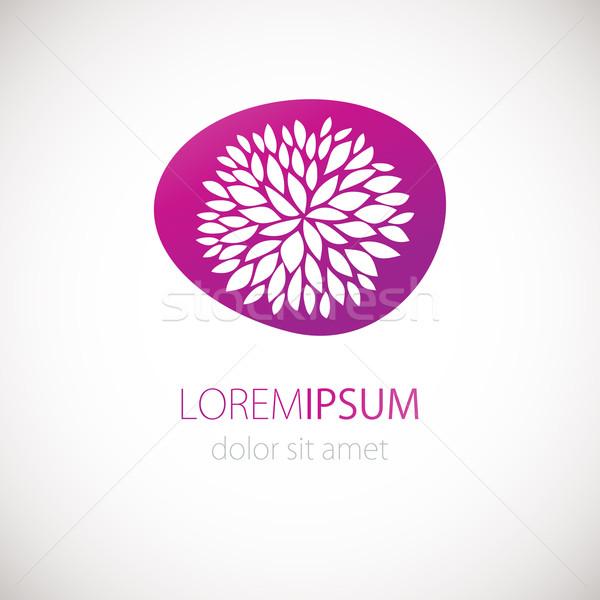 Logotípus terv virág rózsaszín vektor szalag Stock fotó © mcherevan