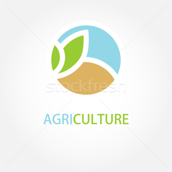 Vector sign Organic farming Greengrocer Stock photo © mcherevan