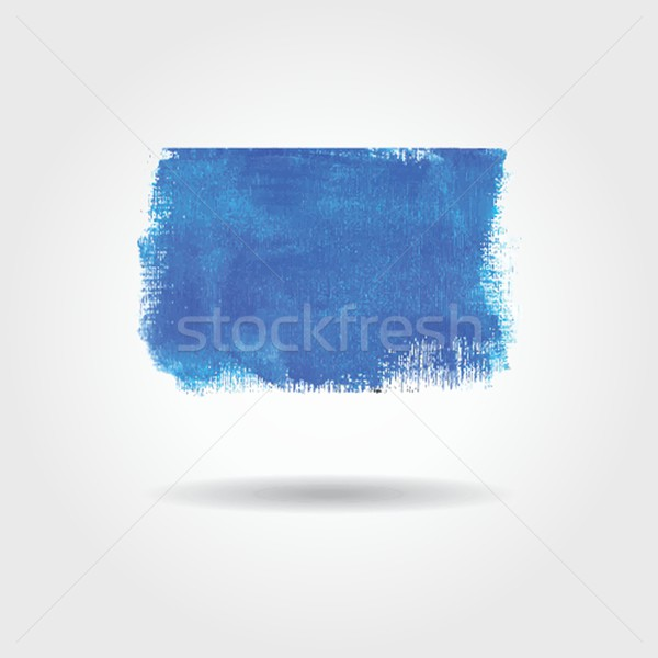 Stock photo: Watercolor vector banner with place for your text. Cold blue colors.