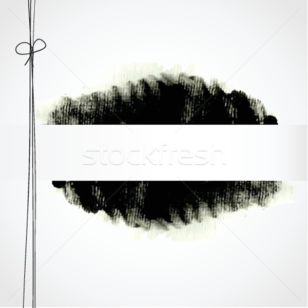 Design Template with ink spot and place for your text Stock photo © mcherevan