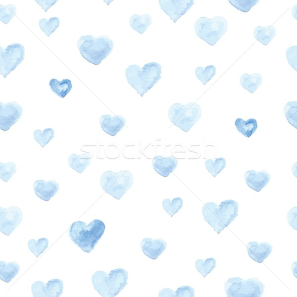 Seamless polka dot pattern from watercolor paint heart . Stock photo © mcherevan