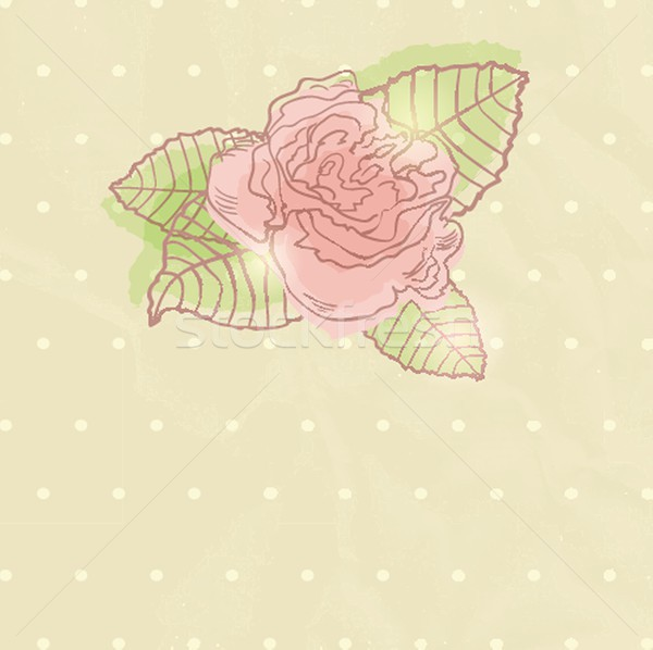 Abstract rosa fiore carta design arte Foto d'archivio © mcherevan