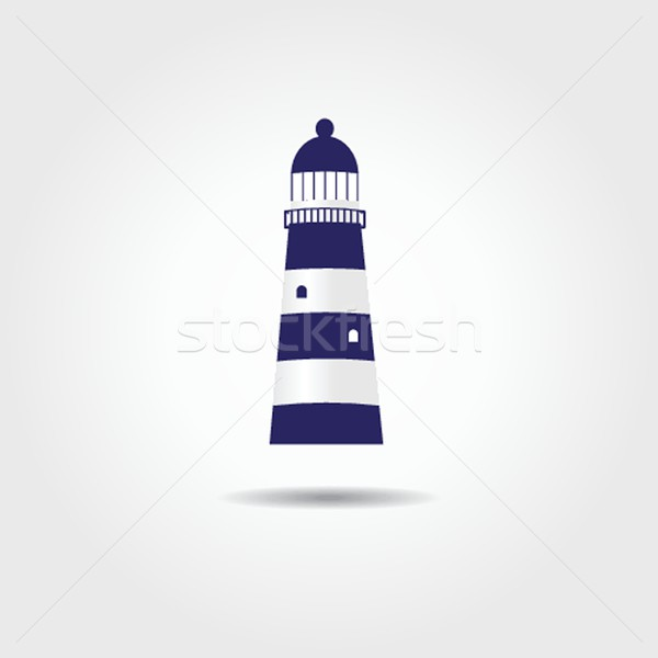 illustration of the sea and a light house Stock photo © mcherevan